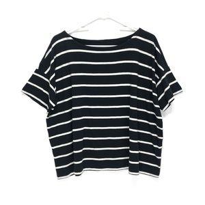 Eileen Fisher Striped Top Short Sleeve